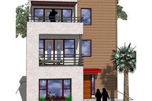 Modern Exterior - Front Elevation Plan #512-2