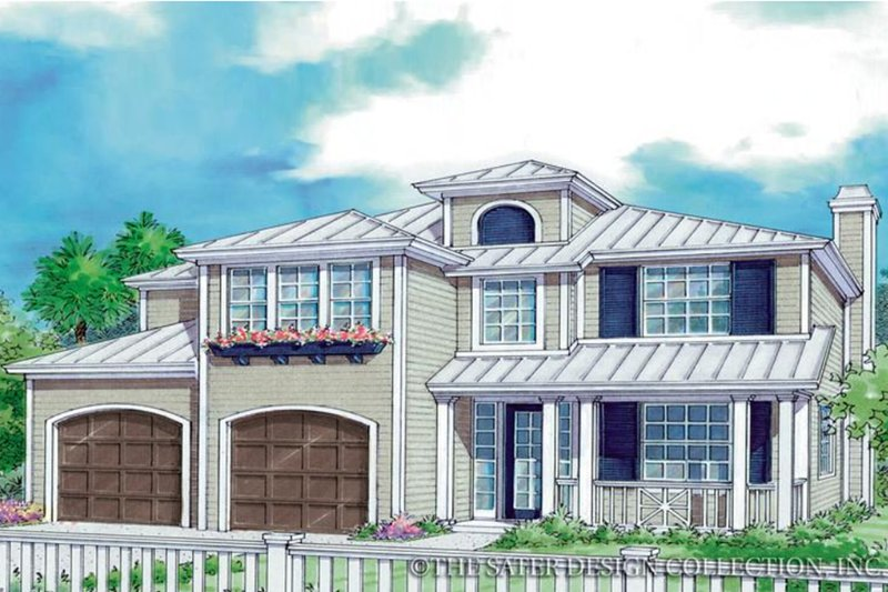 Prairie Exterior - Front Elevation Plan #930-93