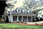Country Style House Plan - 4 Beds 3.5 Baths 4093 Sq/Ft Plan #453-16 Exterior - Front Elevation
