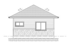 House Plan Design - Cottage Exterior - Rear Elevation Plan #1077-7
