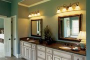 European Style House Plan - 5 Beds 4.5 Baths 3525 Sq/Ft Plan #927-24 Interior - Master Bathroom