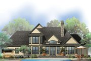 European Style House Plan - 4 Beds 3 Baths 2387 Sq/Ft Plan #929-570 Exterior - Rear Elevation