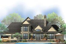 Dream House Plan - European Exterior - Rear Elevation Plan #929-570
