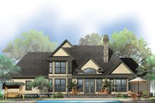 House Plan Design - European Exterior - Rear Elevation Plan #929-570