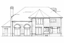 European Exterior - Rear Elevation Plan #72-377