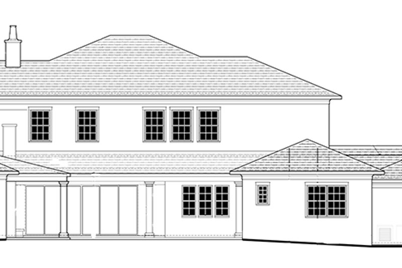 Mediterranean Exterior - Rear Elevation Plan #1058-86 - Houseplans.com