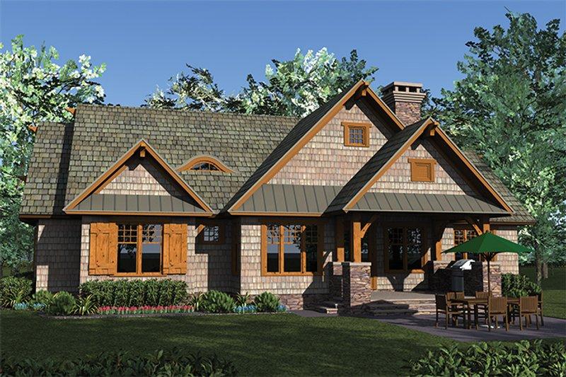 Craftsman Exterior - Rear Elevation Plan #453-615 - Houseplans.com