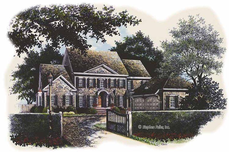 Colonial Exterior - Front Elevation Plan #429-428