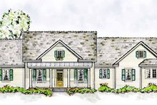 Colonial Exterior - Front Elevation Plan #410-3566