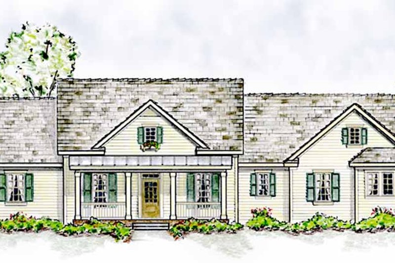 Home Plan - Colonial Exterior - Front Elevation Plan #410-3566
