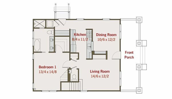Craftsman Floor Plan - Main Floor Plan #461-19