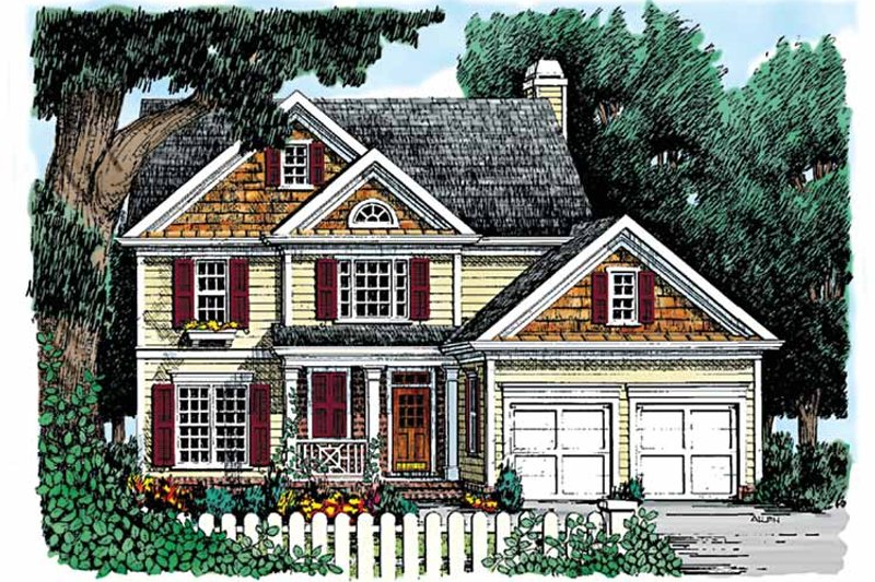 Country Exterior - Front Elevation Plan #927-820