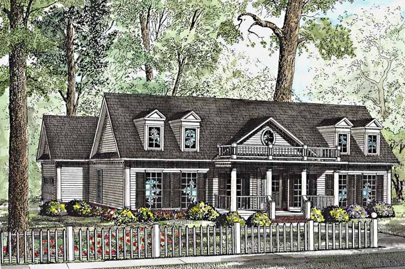 Classical Exterior - Front Elevation Plan #17-3206