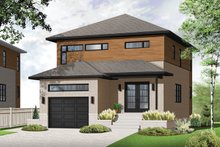Architectural House Design - Contemporary Exterior - Front Elevation Plan #23-2481