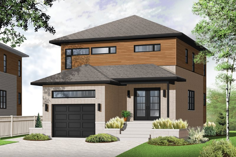 Contemporary Exterior - Front Elevation Plan #23-2481 - Houseplans.com