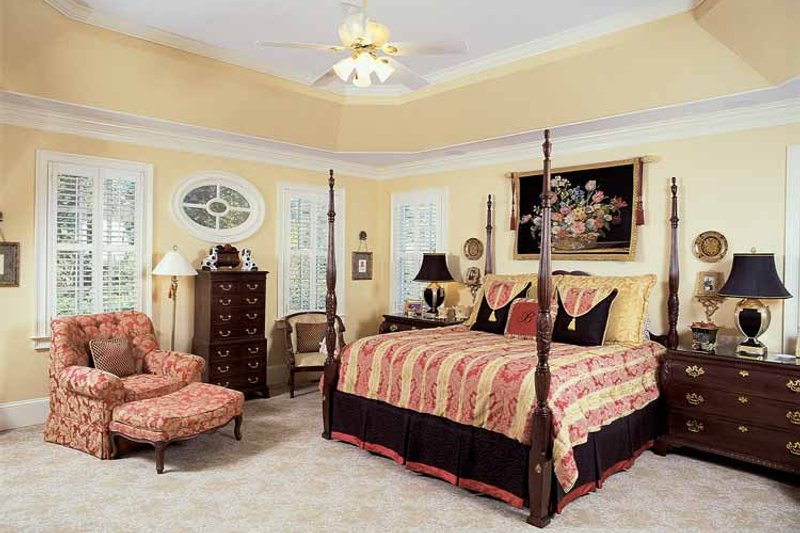 Colonial Interior - Master Bedroom Plan #54-184 - Houseplans.com