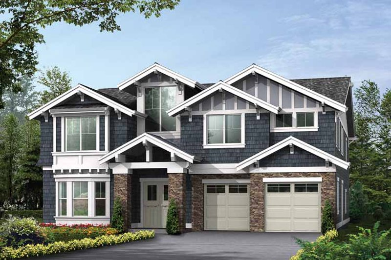 Craftsman Exterior - Front Elevation Plan #132-482