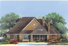 Cottage Exterior - Rear Elevation Plan #929-927