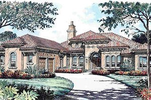 Mediterranean Exterior - Front Elevation Plan #135-146