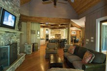 Architectural House Design - Craftsman Interior - Family Room Plan #54-362