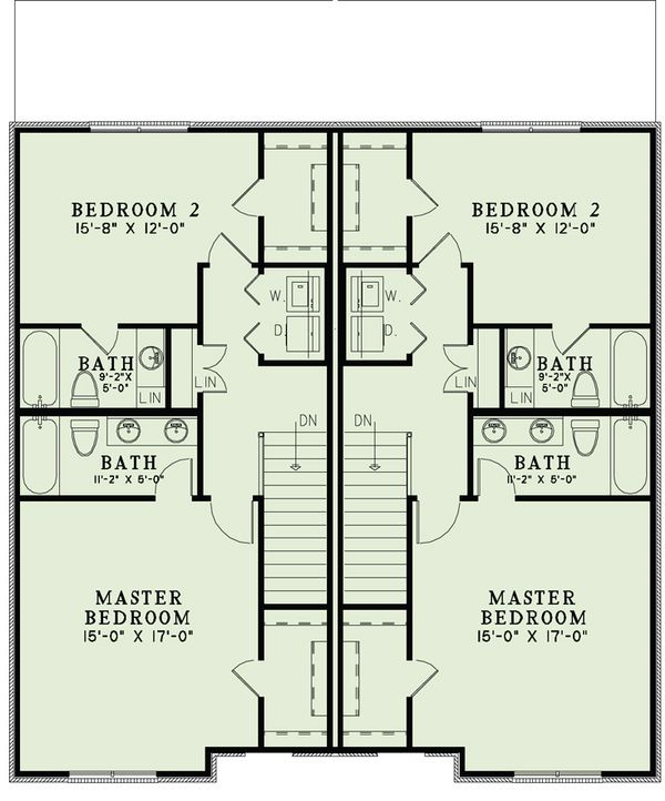 European Floor Plan - Upper Floor Plan Plan #17-2527