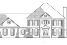 Colonial Exterior - Front Elevation Plan #17-2803