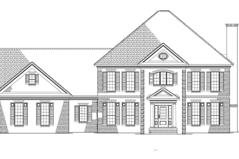 Colonial Exterior - Front Elevation Plan #17-2803 - Houseplans.com