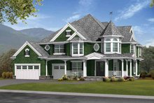 House Design - Victorian Exterior - Front Elevation Plan #132-476