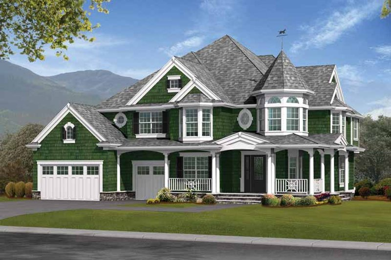 Architectural House Design - Victorian Exterior - Front Elevation Plan #132-476