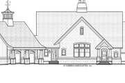 European Style House Plan - 3 Beds 3 Baths 4534 Sq/Ft Plan #928-20 Exterior - Front Elevation
