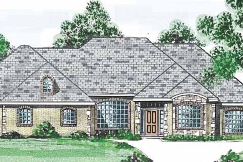 Country Exterior - Front Elevation Plan #52-263