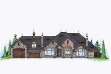 European Exterior - Front Elevation Plan #5-348