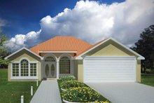 House Plan Design - Adobe / Southwestern Exterior - Front Elevation Plan #1061-13