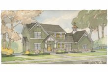 Craftsman Exterior - Front Elevation Plan #928-58