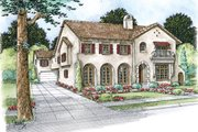 Mediterranean Style House Plan - 4 Beds 4.5 Baths 4839 Sq/Ft Plan #20-2150 Exterior - Front Elevation