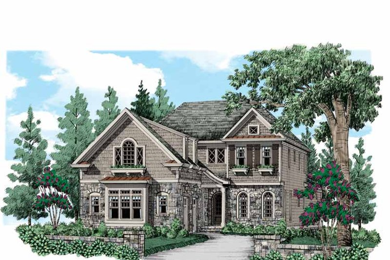 Traditional Exterior - Front Elevation Plan #927-540 - Houseplans.com
