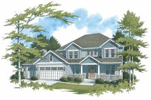 Dream House Plan - Craftsman Exterior - Front Elevation Plan #48-845