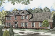 Colonial Exterior - Front Elevation Plan #17-2833