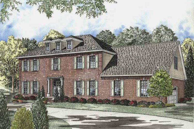 Dream House Plan - Colonial Exterior - Front Elevation Plan #17-2833