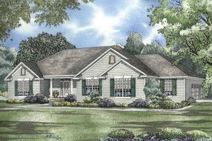 Architectural House Design - Colonial Exterior - Front Elevation Plan #17-2954