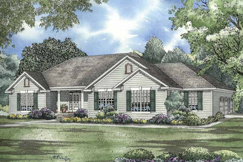 Colonial Exterior - Front Elevation Plan #17-2954