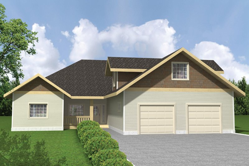 Dream House Plan - Ranch Exterior - Front Elevation Plan #117-854