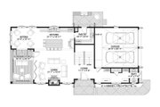 Cottage Style House Plan - 4 Beds 3.5 Baths 3577 Sq/Ft Plan #928-354 Floor Plan - Main Floor