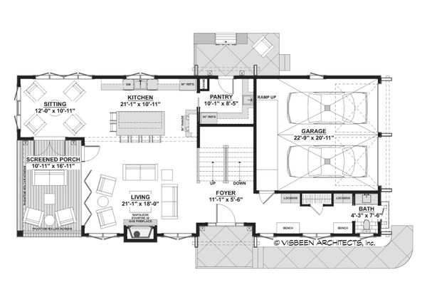 Cottage Floor Plan - Main Floor Plan #928-354