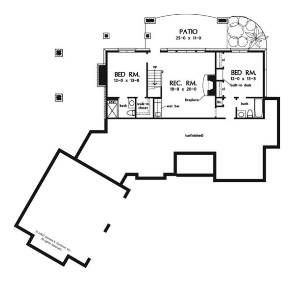 House Plan Design - European Floor Plan - Lower Floor Plan #929-901