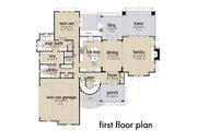 Contemporary Style House Plan - 3 Beds 2.5 Baths 2425 Sq/Ft Plan #120-268 Floor Plan - Main Floor