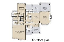 Contemporary Floor Plan - Main Floor Plan Plan #120-268