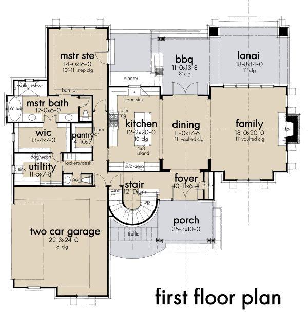 Dream House Plan - Contemporary Floor Plan - Main Floor Plan #120-268