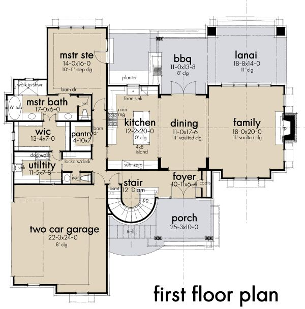 Contemporary Floor Plan - Main Floor Plan Plan #120-268