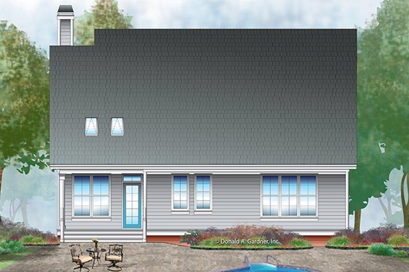 Colonial Exterior - Rear Elevation Plan #929-989 - Houseplans.com